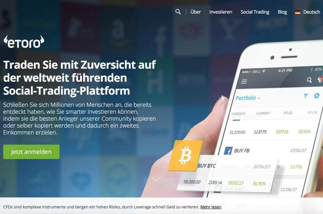 Bitcoin-Trading auf etoro